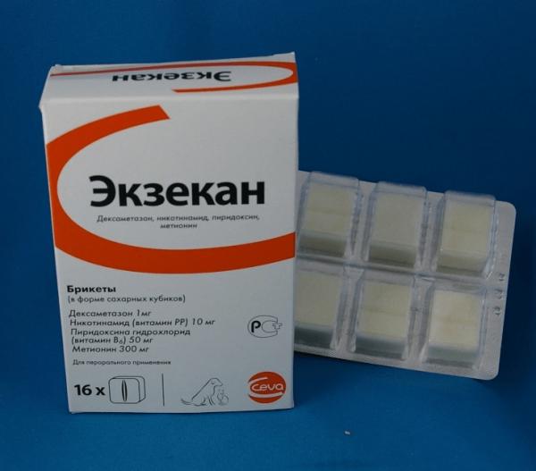 Екзекан - препарат для лікування котячих хвороб шкіри